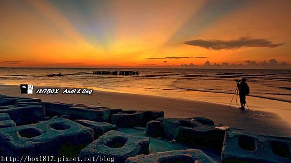 【桃園。大園】夕照火燒雲豬鼻子海灘。竹圍漁港。獨特造型消波塊。攝影新寵。IG熱門打卡景點 @1817BOX部落格